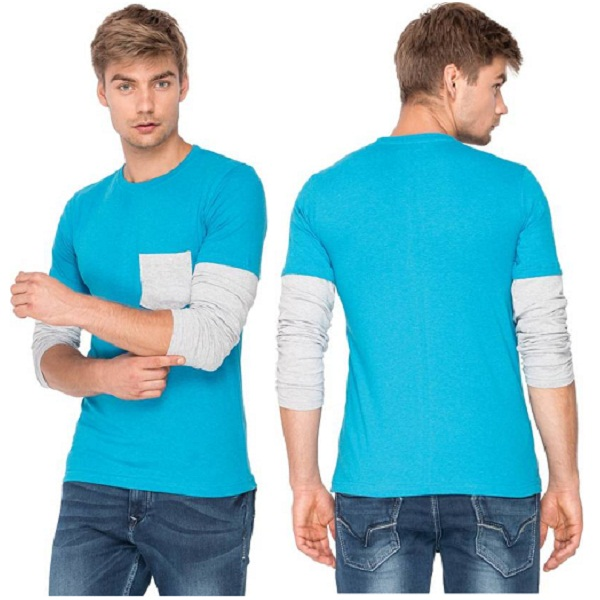 Campus Sutra Solid Mens T Shirt