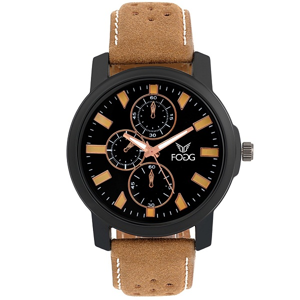 Fogg Analog Black Dial Mens Watch