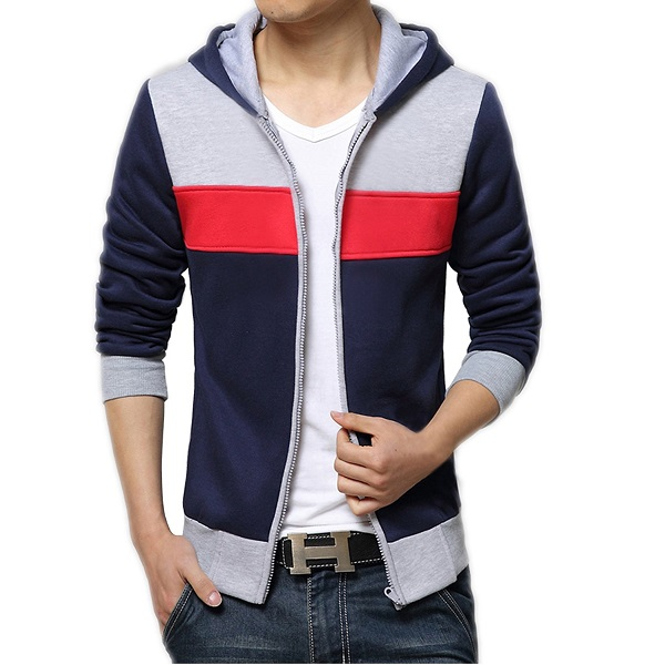 AWG Mens Premium Rich Cotton Pullover Hoodie Sweatshirt with Zip