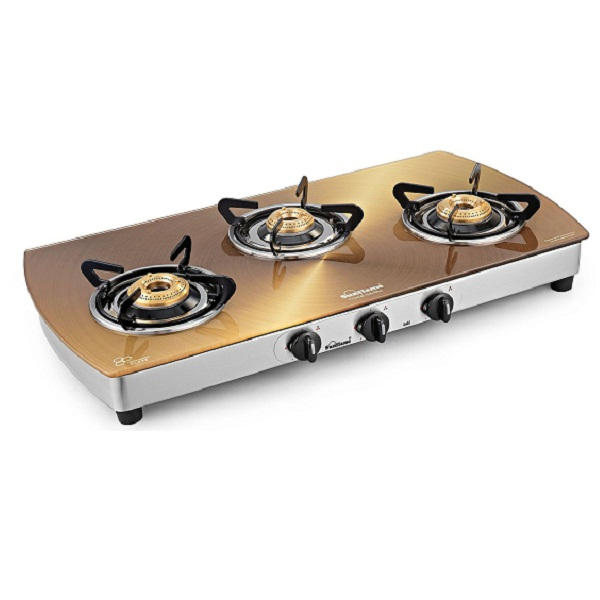 Sunflame Crystal Stainless Steel 3 Burner Gas Stove