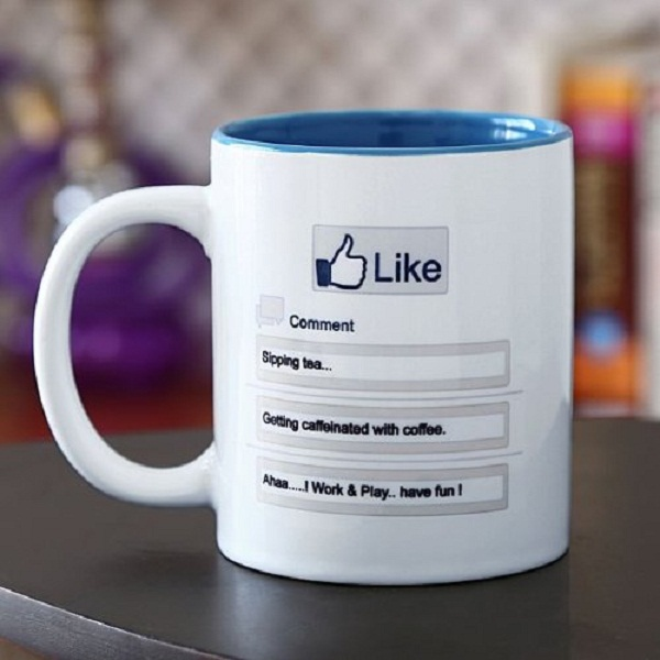 Hot Muggs Like Facebook Design Ceramic Mug