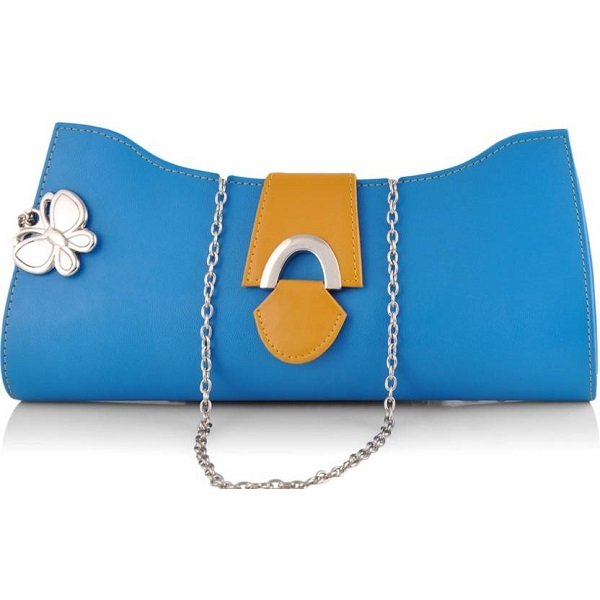Butterflies Women Casual Blue Clutch