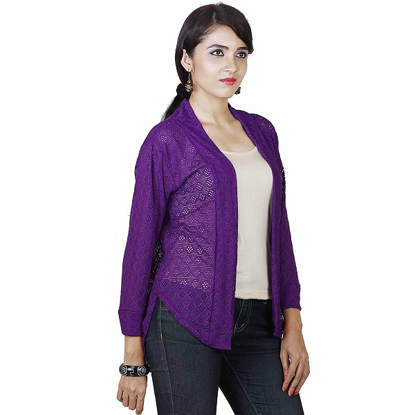 Dhanvarsha Fashion Womens Cotton SHRUG