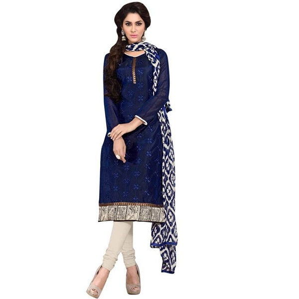 Paroma Art Chanderi Embroidered Salwar Suit Dupatta Material