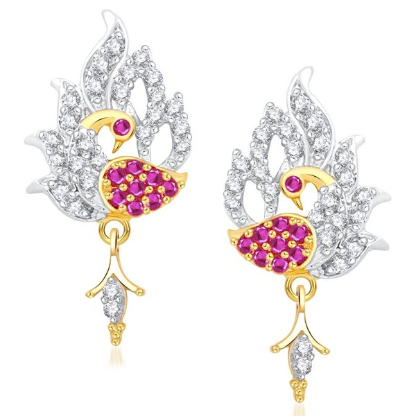 VK Jewels Forest Dreams Peacock Earring