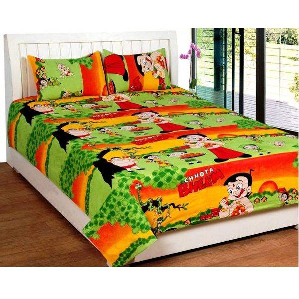 Bed And Bath Cotton Cartoon Queen sized Double Bedsheet