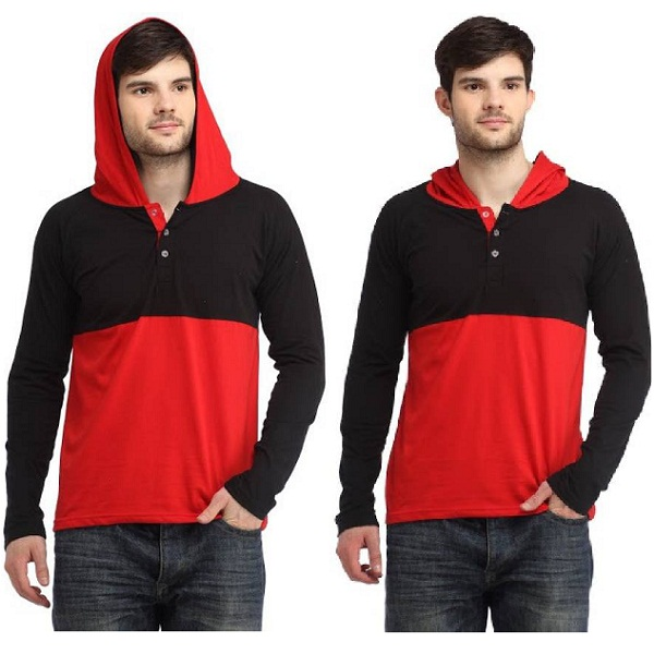 Bigidea Solid Mens Hooded T Shirt