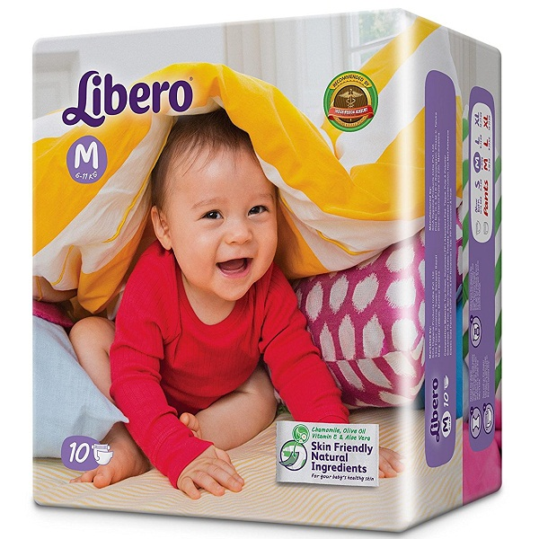 Libero Medium Open Diaper 10 Counts