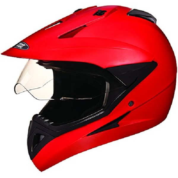 Studds Motocross Plain Full Face Helmet with Plain Visor