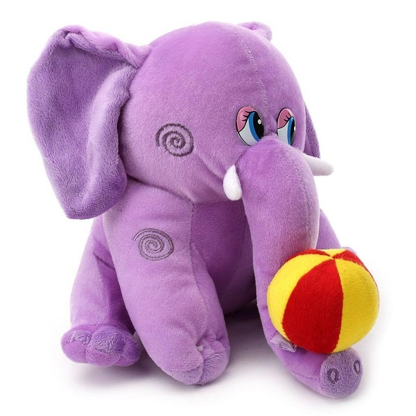 Tickles Purple Elephant With Ball Stuffed Soft Plush Toy