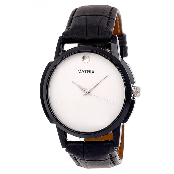 Matrix Analog White Dial Mens Watch