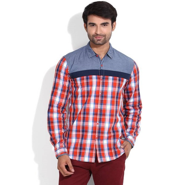 Lee Mens Checkered Casual Shirt