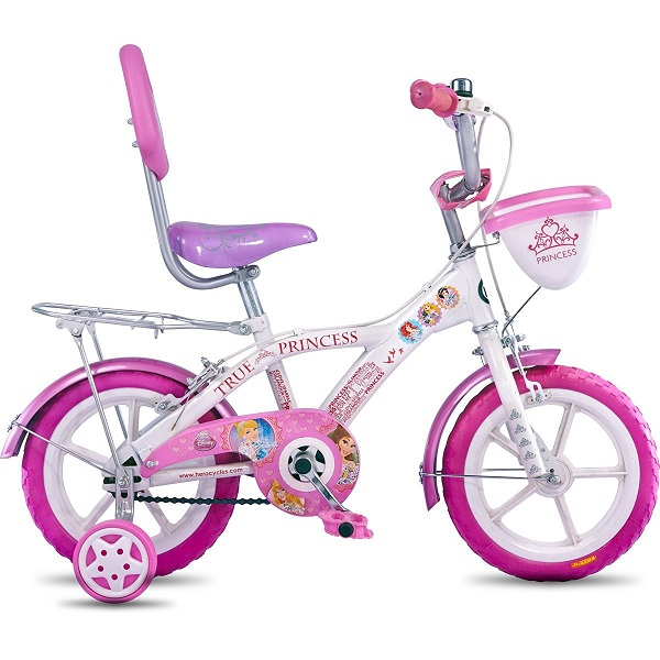 Hero Disney 14T Princess Junior Cycle with Carrier