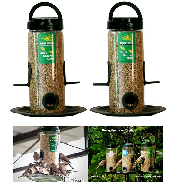 Nature Forever Bird Feeder Transparent 2 Piece