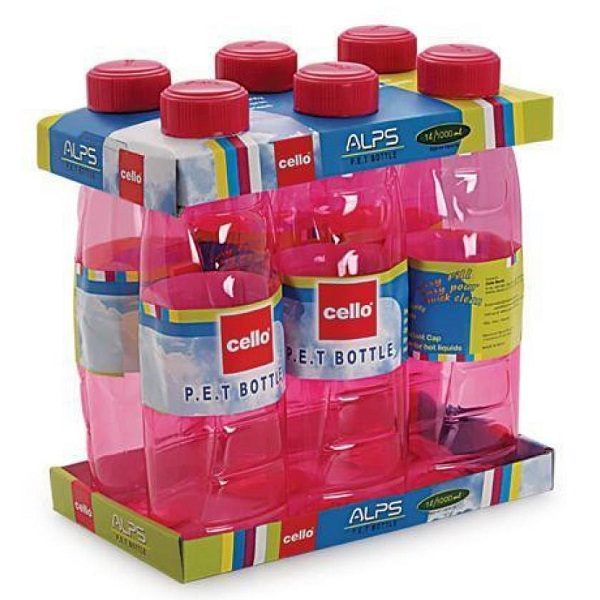 Cello Set of 6 Pet Water Bottles
