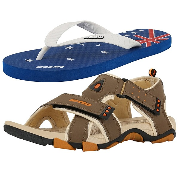 Lotto Mens Combo Of Sandal And Slipper
