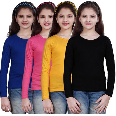 Sinimini Casual Full Sleeve Solid Girls Top