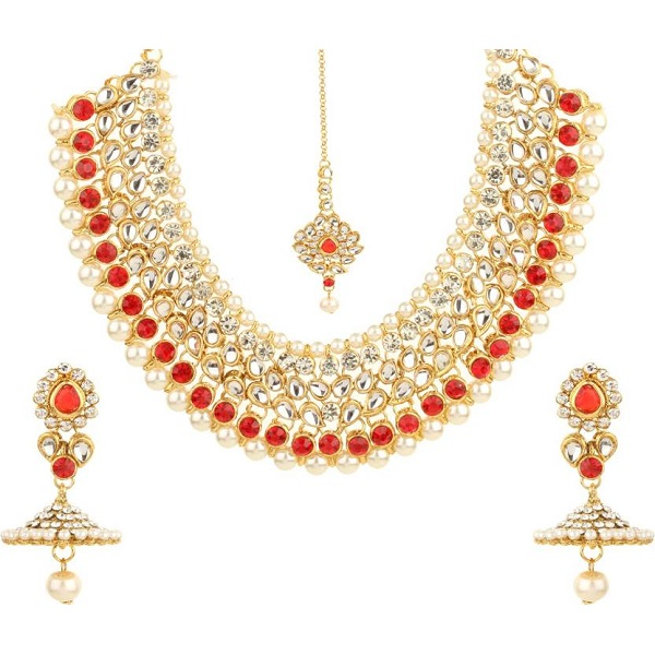Bling N Beads Silver Alloy Jewel Set