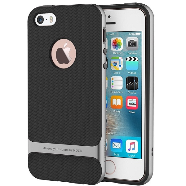 iPhone 5 Shockproof Dual Layer Rubberised Hard PC Back Cover Case