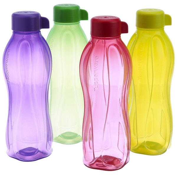 Pack of 4 Tupperware Aquasafe 1000 ml Bottle