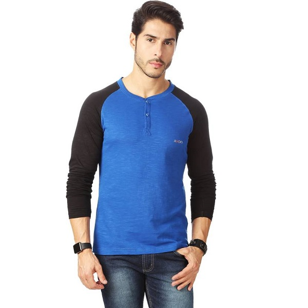 Rodid Solid Mens Henley T Shirt