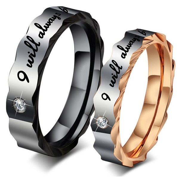 I Will Always With You Couple Rings