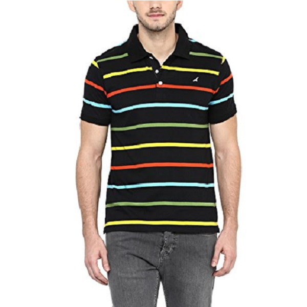 American Crew Mens Polo Collar Stripes T Shirt