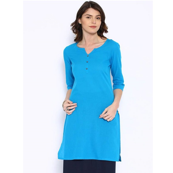 Aurelia Solid Womens Straight Kurta