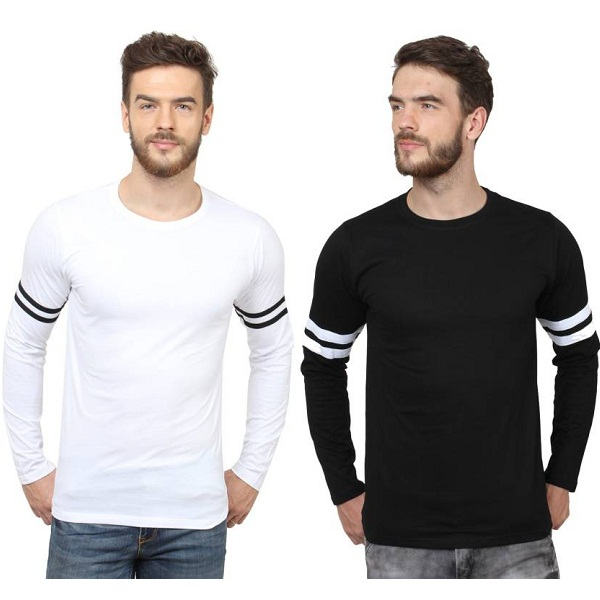 SayItLoud Solid Mens Round Neck TShirt Pack of 2