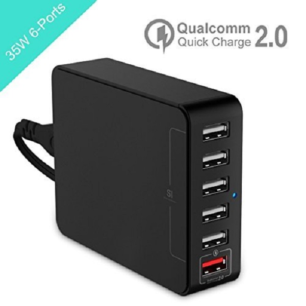 DMG 35W 6 Port Smart USB Desktop Charging Station Wall Charger