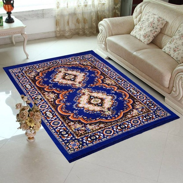 Home Elite Blue Jute Carpet