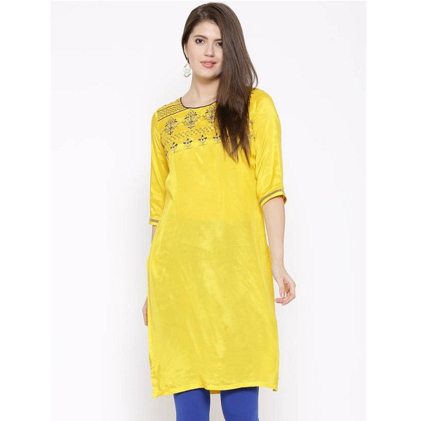 Aurelia Embroidered Womens Straight Kurta
