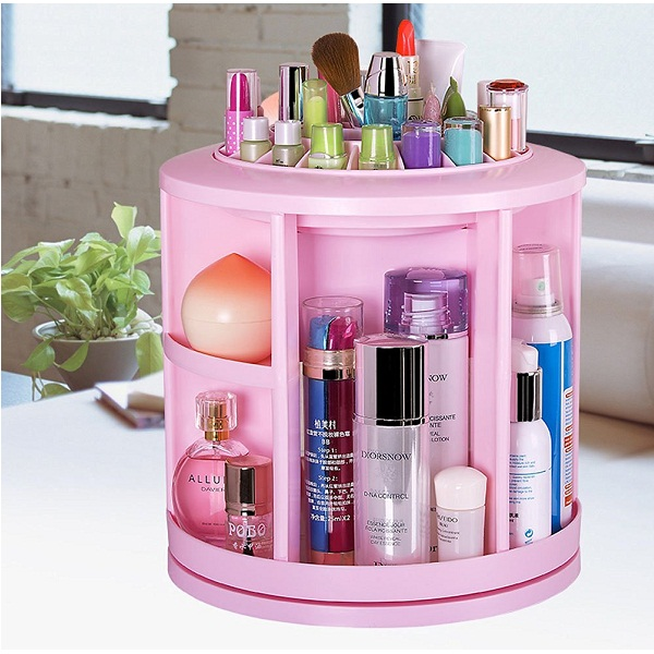 HOKIPO Rotating Storage Box Organizer
