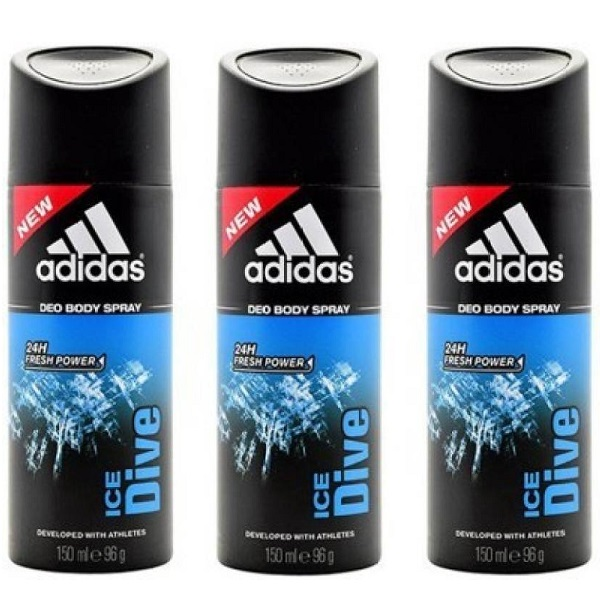 Adidas ice dive Deodorant Spray For Men  450 ml