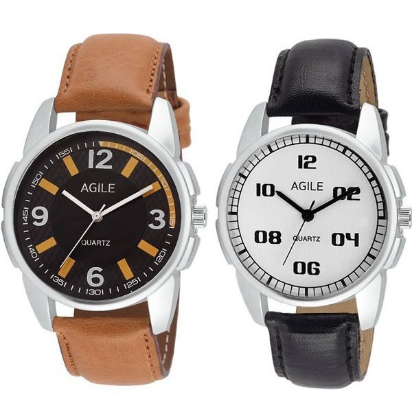 Agile AGC007 Classique Combo pack Analog Watch For Men
