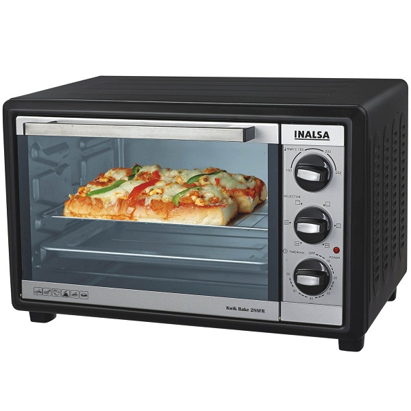 Inalsa Kwik Bake 1500Watt 28Litre OTG with Motorized Rotisserie