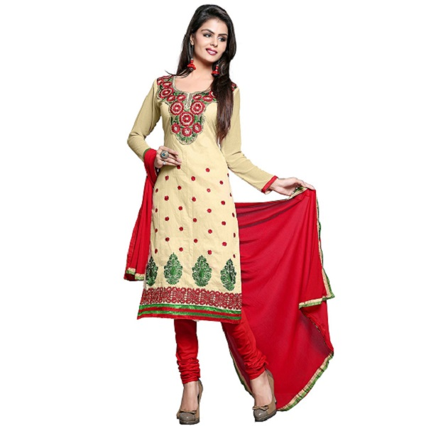 Khushali Women Chanderi Unstitched Salwar Suit