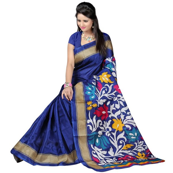 Ajamukhi Self Design Fashion Silk Sari