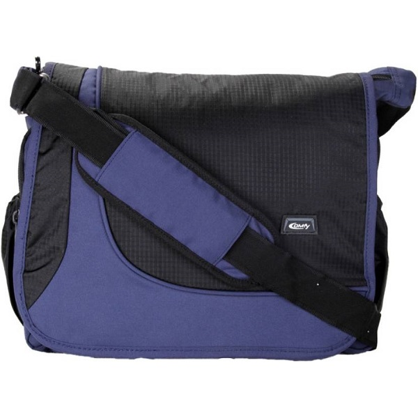Comfy Men Blue Black Nylon Sling Bag