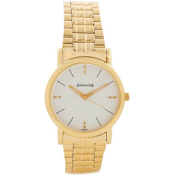 Sonata NF7987YM05CJ Klassik Analog Watch For Men