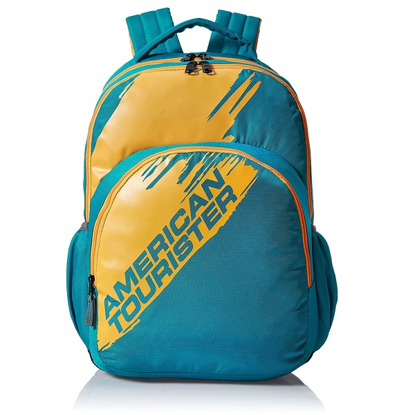 American Tourister Yellow and Blue Casual Backpack