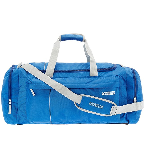 American Tourister Nylon 65 cms Blue Travel Duffle