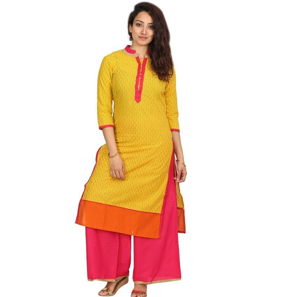 Desi Vibe Womens Kurta and Palazzo Set