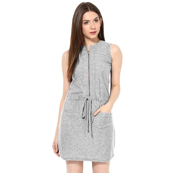 Miss Chase Womens Shift Grey Dress