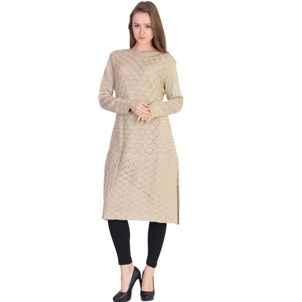 Aisha Casual Self Design Womens Kurti