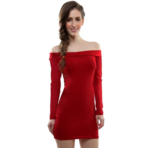Miss Chase Womens Bandage Red Dress