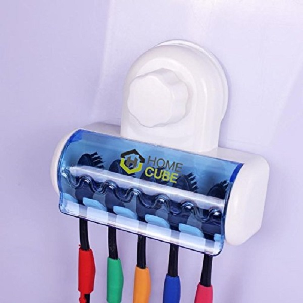 HOME CUBE TM 5 Toothbrush Wall Mount Toothbrush Holder