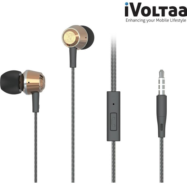 iVoltaa Wired Headset With Mic