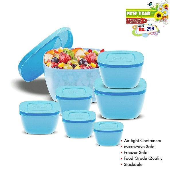 BMS GoodDay Storex Fresh Plastic Bowls Set of 7