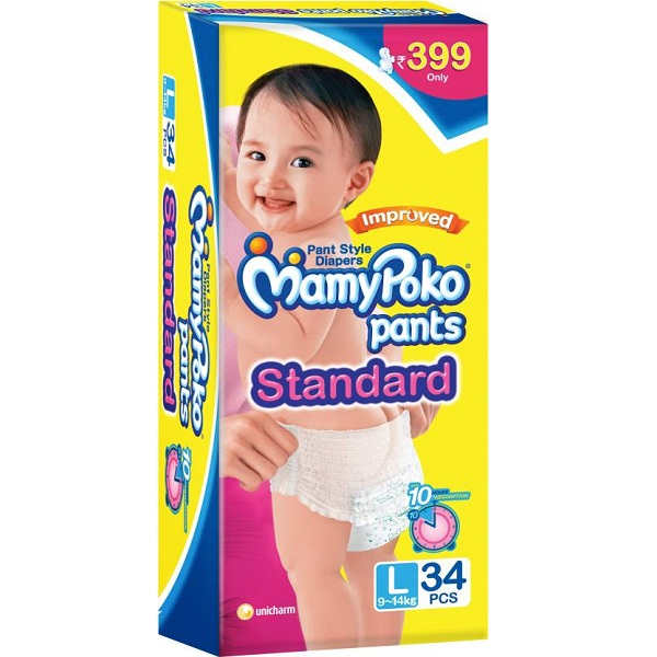 Mamy Poko Pants Standard L 34 Pieces